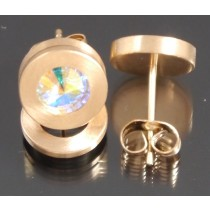 Edelstahl - Ohrstecker PVD rosé Gold Crystal Aurore Boreale Art.100